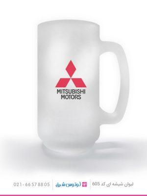 02 - لیوان شیشه ای تبلیغاتی کد 605